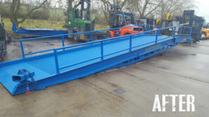 used loading ramp after refreshment