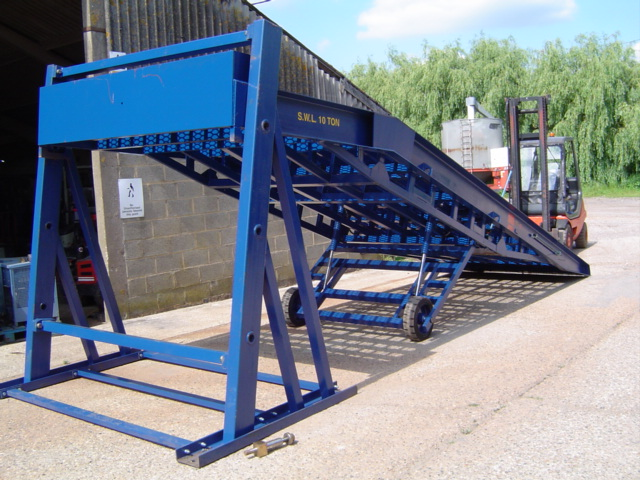 bespoke solution of mobile container loading ramp