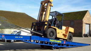 track on the heavy-duty loading ramp uk